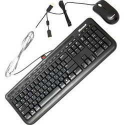 Microsoft Wired Keyboard+Mouse 600, USB (черный)