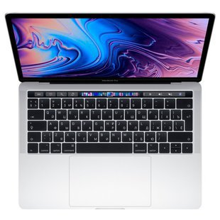 "Ноутбук Apple MacBook Pro 13 with Retina display and Touch Bar Mid 2019 (Intel Core i5 2400 MHz/13.3""/2560x1600/8GB/512GB SSD/DVD нет/Intel Iris Plus Graphics 655/Wi-Fi/Bluetooth/macOS) (MV9A2RU/A) (серебристый)"