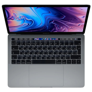 "Ноутбук Apple MacBook Pro 13 with Retina display and Touch Bar Mid 2019 (Intel Core i5 1400 MHz/13.3""/2560x1600/8GB/256GB SSD/DVD нет/Intel Iris Plus Graphics 645/Wi-Fi/Bluetooth/macOS) (MUHP2RU/A) (серый космос)"